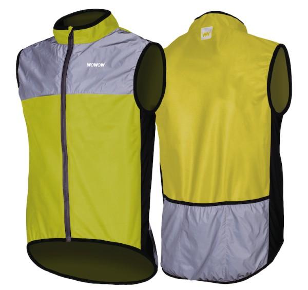 Wowow reflective vest dark jacket 1.1 yellow