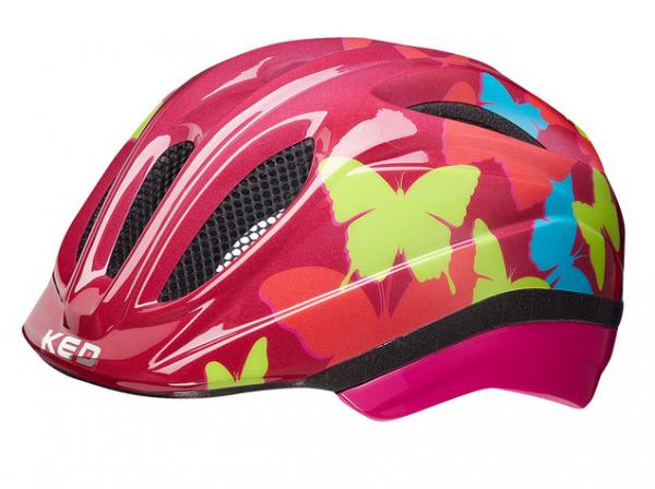 KED Meggy II Trend Kinder Helm butterfly bordeaux