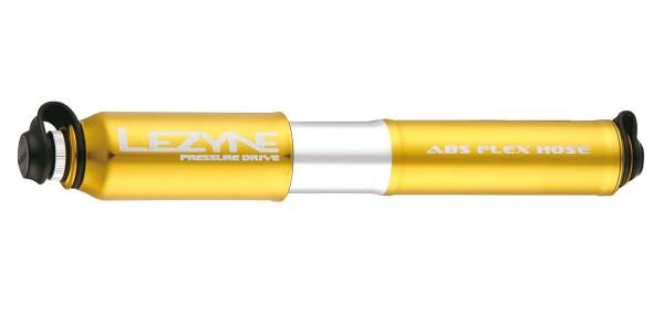 Lezyne Pressure Drive Minipumpe gold-glänzend