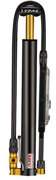 Lezyne Minipumpe CNC Micro Floor Drive Digital HVG schwarz glänzend