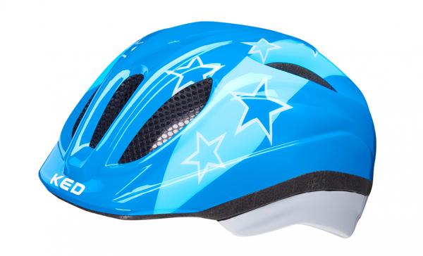 KED Meggy II Kinderhelm blue stars