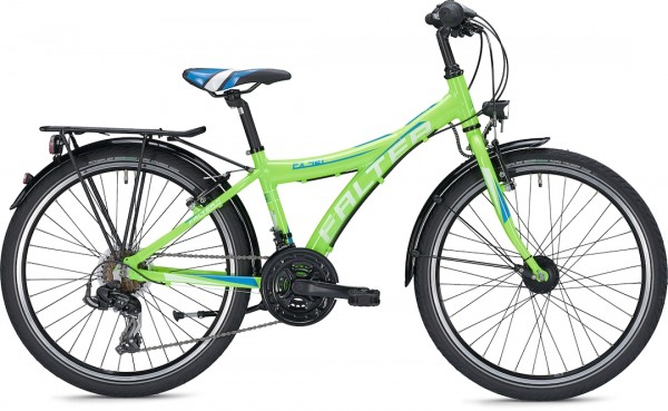 "Falter child / youth bike FX 421 PRO Y 34 cm 24 ""Green Glossy aluminum"