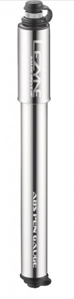 Lezyne mini pump CNC Gauge Drive HP-M silver glossy