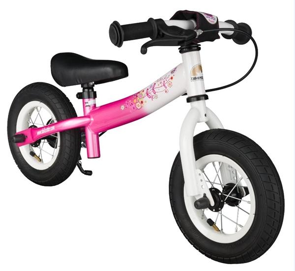 Bikestar safety children's wheel bike Sport 10'' flamingo pink & diamond white