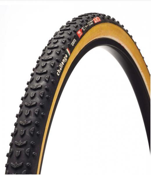 Challenge Grifo Tubular schwarz / braun - Cyclocross Reifen