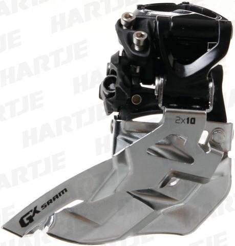 SRAM GX Umwerfer 2x10-fach - High Clamp - 22/36 und 24/38 Zähne - Top Pull