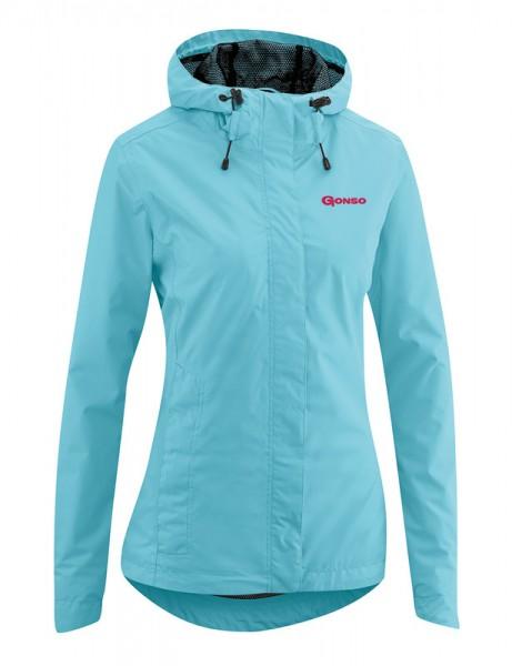 Gonso Sura Light ladies commuter rain jacket blue topaz