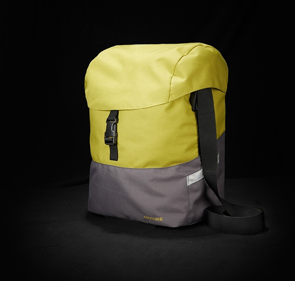 Racktime single bag Mare lime green/stone grey