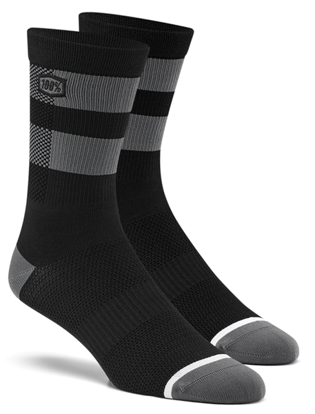 100% Flow socks schwarz/grau