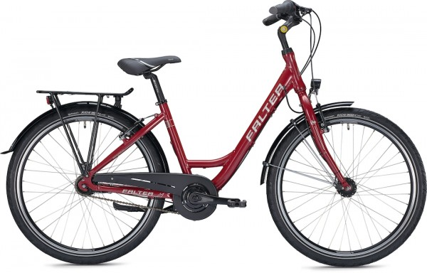 "Falter City / Urbanbike C 3.0 28 ""glossy red"