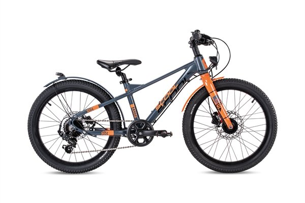 S´COOL XXlite 20 Evo Aluminium 7-Gang mit Freilauf grey/orange matt