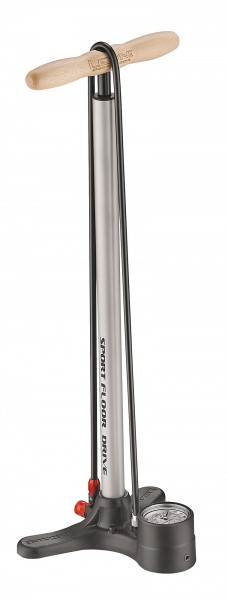 Lezyne Sport Floor Drive stand air pump silver-metallic