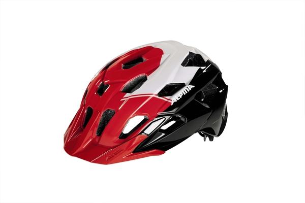 Alpina Yedon helmet black-red-white
