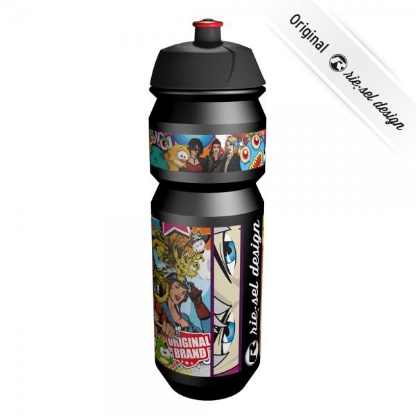 rie:sel design fla:sche - Trinkflasche - Stickerbomb