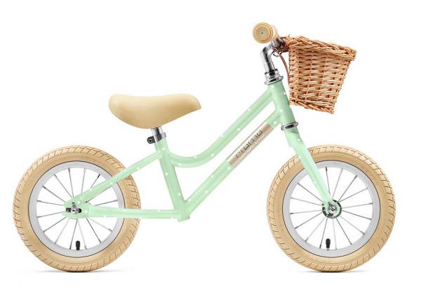 """Creme Cycles Mia 12"""" Push-Bike pistachio polka"""