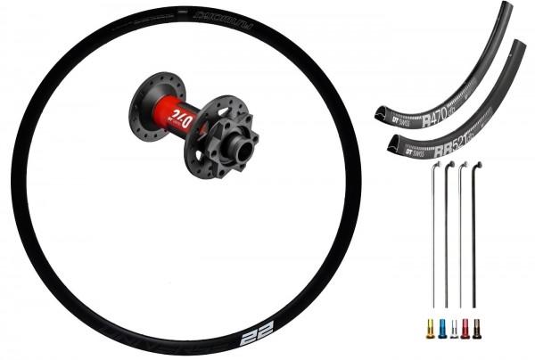 DT Swiss 240 EXP Disc IS Custom Front Wheel Road/Gravelbike 700c