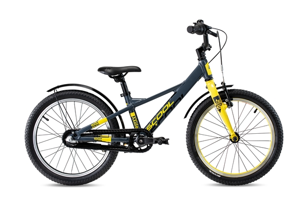 S´COOL XXlite 18 Evo Aluminium 3-speed Coaster Brake darkgrey/yellow matt
