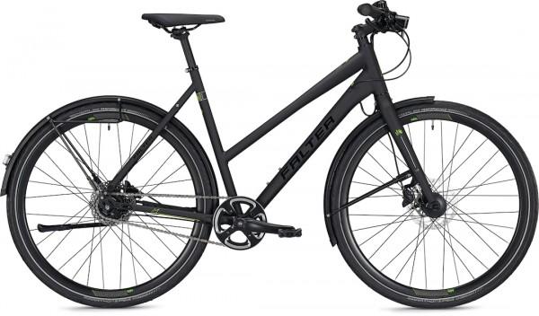 """Falter City / Urbanbike U 6.0 Trapez S (45) 28 """"Matt black"""