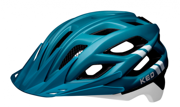 KED Companion MTB Helm blue white matt