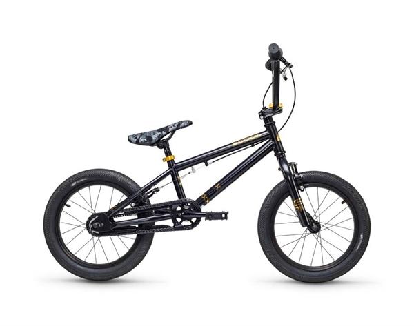 S´COOL XtriX mini BMX 16'' Stahl 1-Gang black/ gold matt