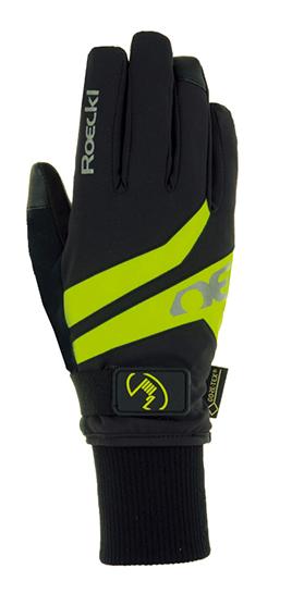 Roeckl Rocca GTX® Waterproof Handschuhe schwarz/gelb