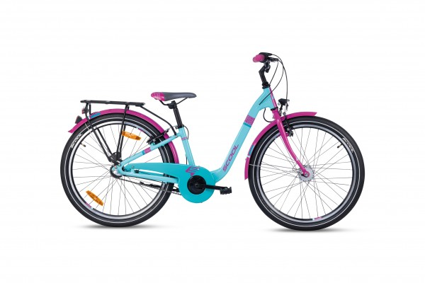 S´COOL chiX 24 alloy 3-speed turquoise/violett