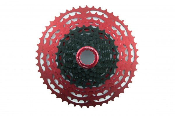 NOW8 Technology Cassette Facile 12-speed 11-48 teeth black-red