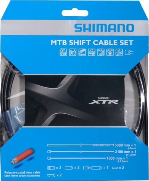 Shimano MTB Schaltzugset XTR OT-SP41 polymerbeschichtet schwarz