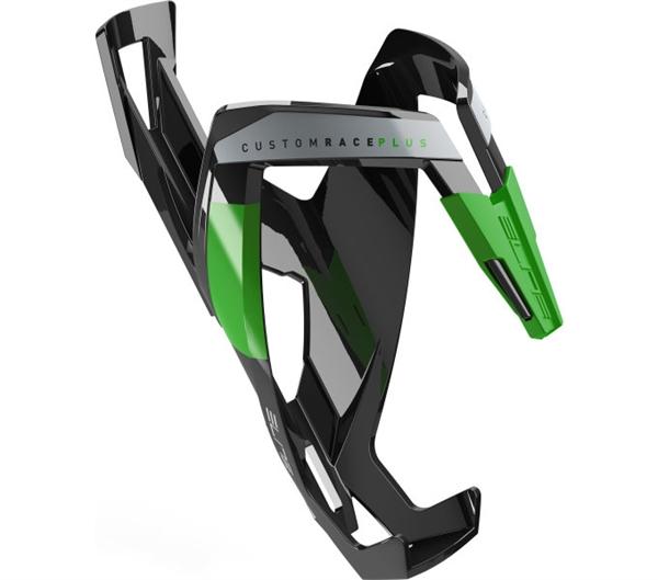 Elite Custom Race Plus Flaschenhalter schwarz/grün glänzend