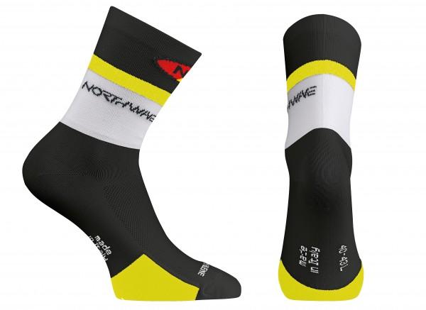 Northwave Logo Socks black/yellow fluo