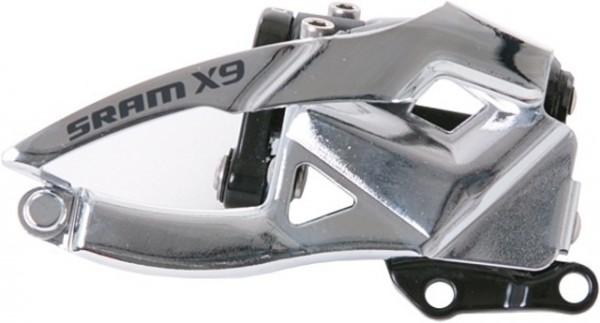 SRAM X.9 2x10-fach Umwerfer Low direct mount S3 (22,1 mm Lochabstand), für 39 Z., Bottom Pull