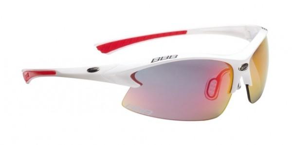 BBB Sport Glasses Impulse Team BSG-38 white / red-smoke MLC-Glasses