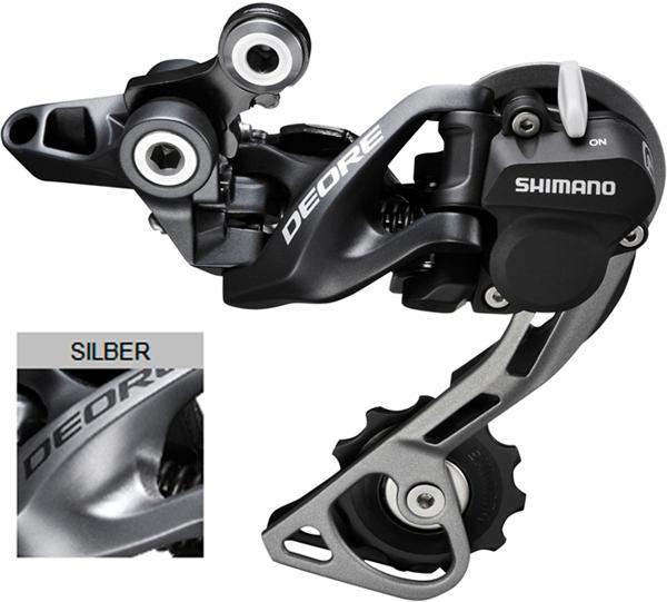 Shimano Deore Schaltwerk RD-M615 GS Shadow+ silver
