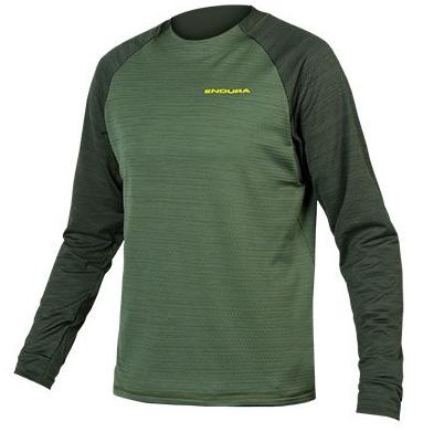 Endura Singletrack Fleece Jersey wood green
