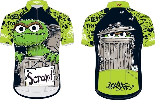 Biketags cycling jersey Sesame Street Oscar