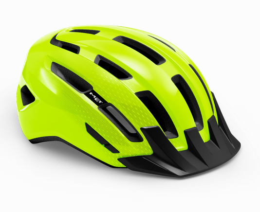 Met Downtown Mips Helm safety yellow/glossy