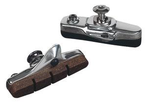 MOUNTY Road brake pads carbon silver black