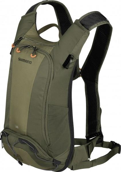 Shimano Unzen Trailrucksack 6L Hydration olive green