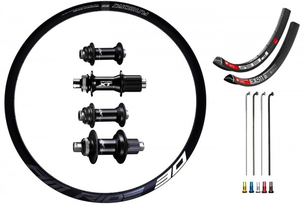 "Shimano XT Boost Disc CL Custom Custom Wheelset MTB 27,5"""