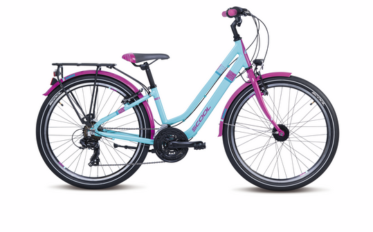 S´COOL chiX 24 twin alloy 21-speed turquoise / violet