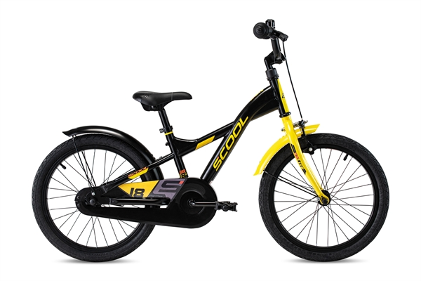 S´COOL XXlite 18 steel 1-speed black/yellow matt