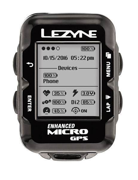 Lezyne bike computer micro GPS with heart rate monitor black