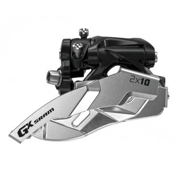 SRAM GX Umwerfer 2x10-fach - Low Clamp - 22/36 & 24/38 Zähne - Dual Pull