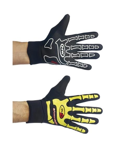 Northwave Skeleton W-Gel Handschuhe schwarz / neon gelb