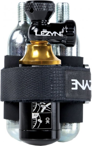 Lezyne Tubeless CO2 Blaster black/gold incl. two CO2 cartridges