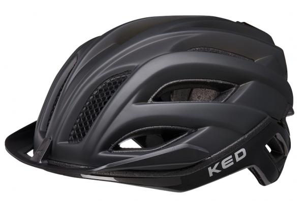 KED Champion Visor Road Helmet process black matt