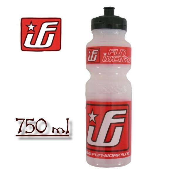 Fun Works Bottle red / clear 750ml