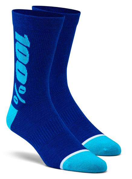 100% Rythym socks merino blue