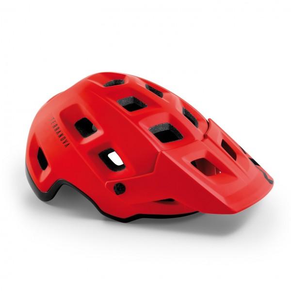 Met Terranova Helmet Black Red Matt Glossy