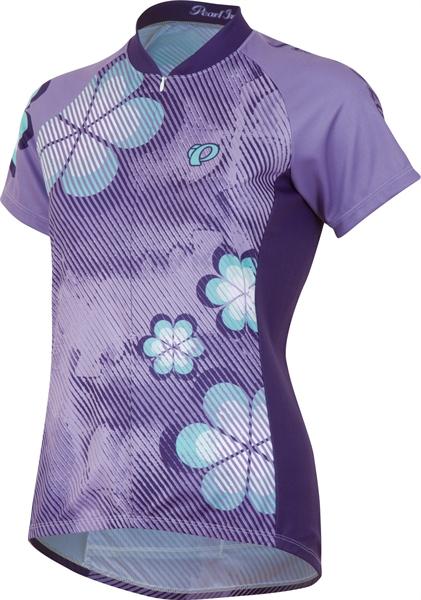Pearl Izumi Women Select LTD SS Jersey stripe flower purple haze Restposten